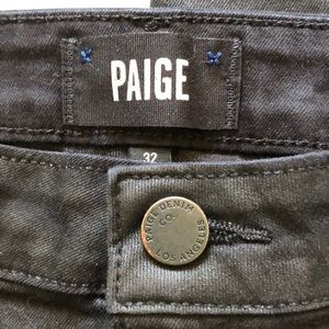 PAIGE Jeans - Paige Margot Ankle Jeans In Coated Black